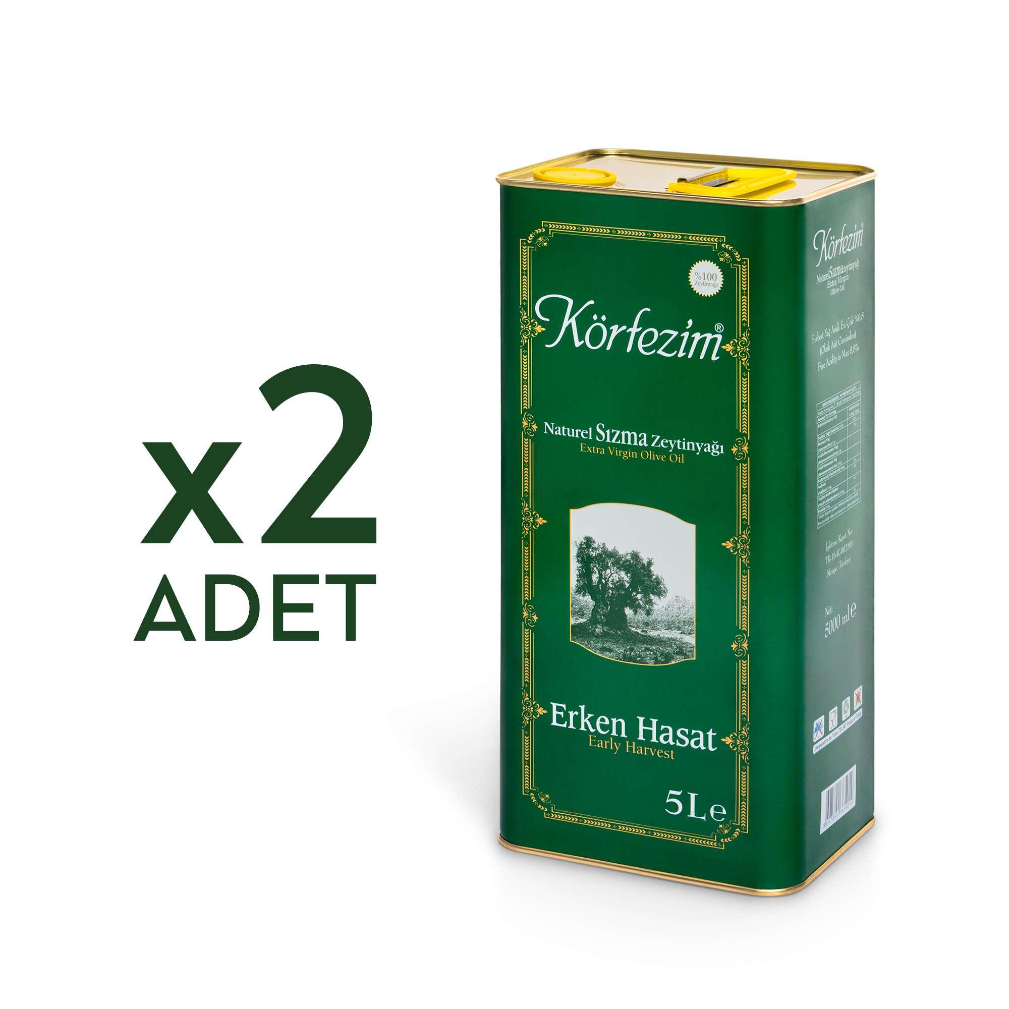 Körfezim Erken Hasat Soğuk Sıkım Zeytinyağı - 2 Adet 5 Litre Kampanya